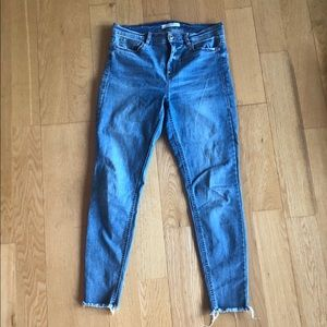 Dynamite denim blue distressed skinny jeans sz 29